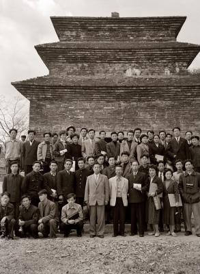 경주 고미술 답사 기념사진 1955년